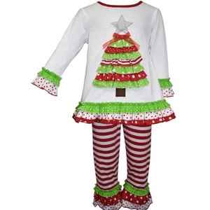 Blueberi Boulevard Holiday Tree Outfit 3T